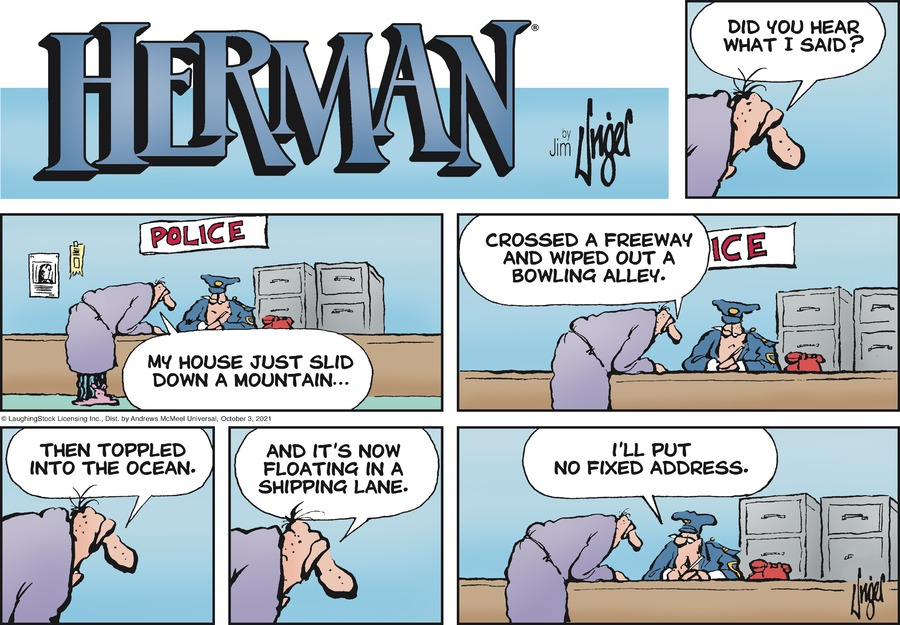 Herman by Jim Unger on Sun, 03 Oct 2021