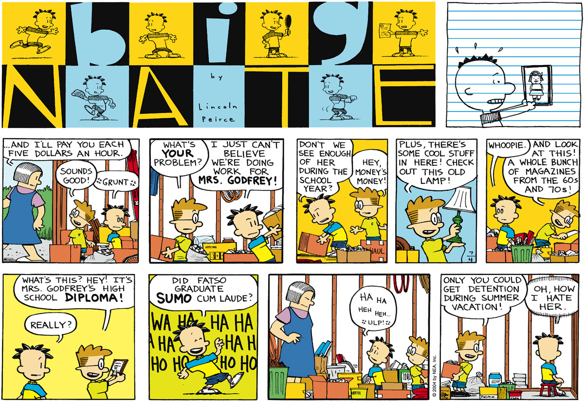 Big Nate Comic Strip for July 04, 2004