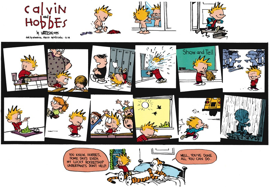 Calvin and Hobbes Comic Strip for May 14, 1995