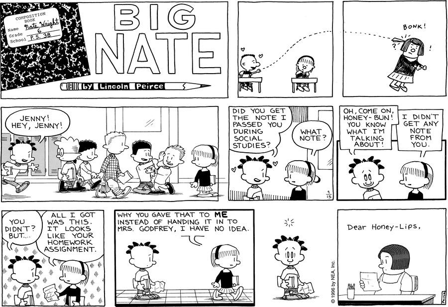 Big Nate Comic Strip for September 15, 1996