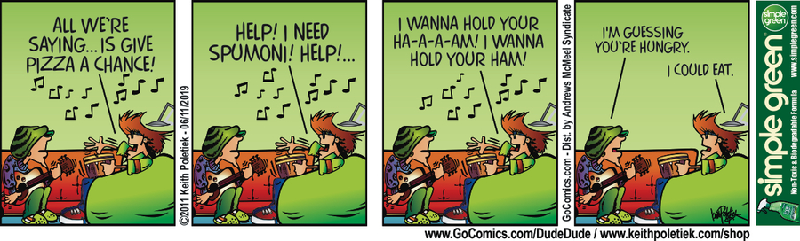 Dude and Dude Comic Strip for June 11, 2019