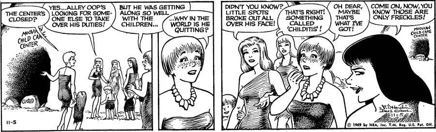 Alley Oop Comic Strip for November 05, 1969