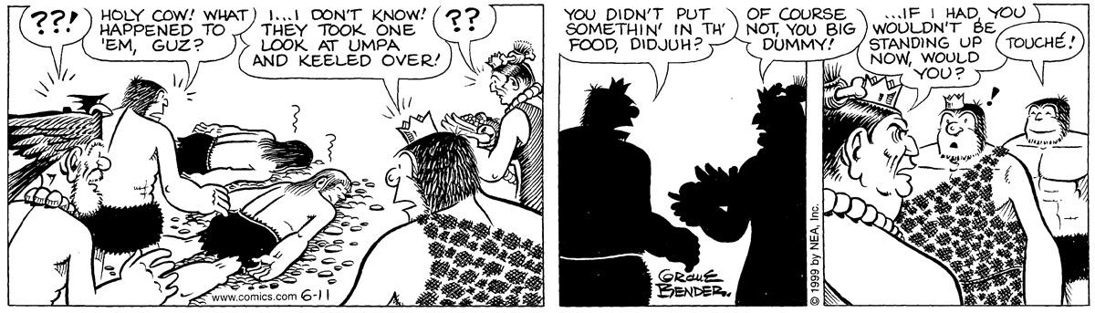 Alley Oop for Jun 11, 1999 Comic Strip
