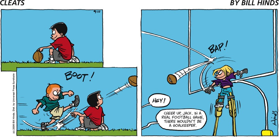 Cleats Comic Strip for September 10, 2006