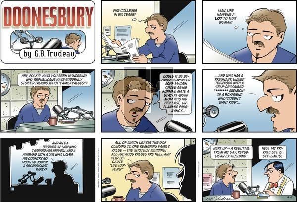 Doonesbury on Sunday October 12, 2008 Comic Strip