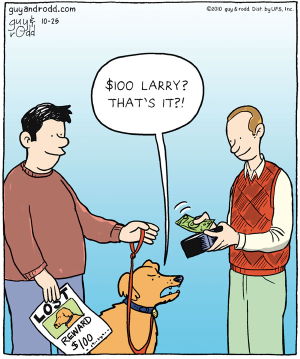 Dog: $100 Larry? That's it?!
