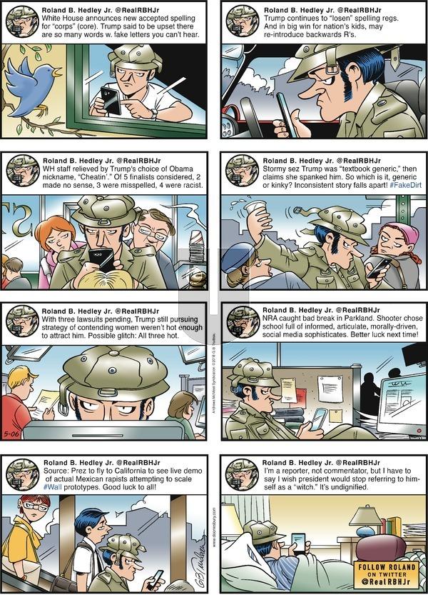 Doonesbury on Sunday May 6, 2018 Comic Strip