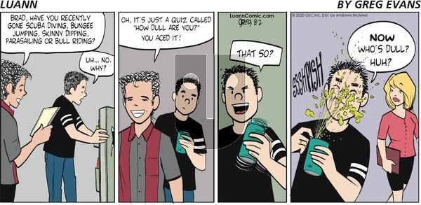 Luann - Sunday August 2, 2020 Comic Strip