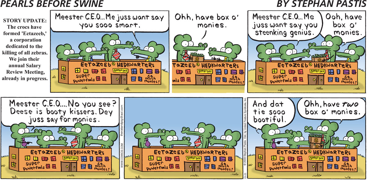 Pearls Before Swine Comic Strip for March 23, 2008