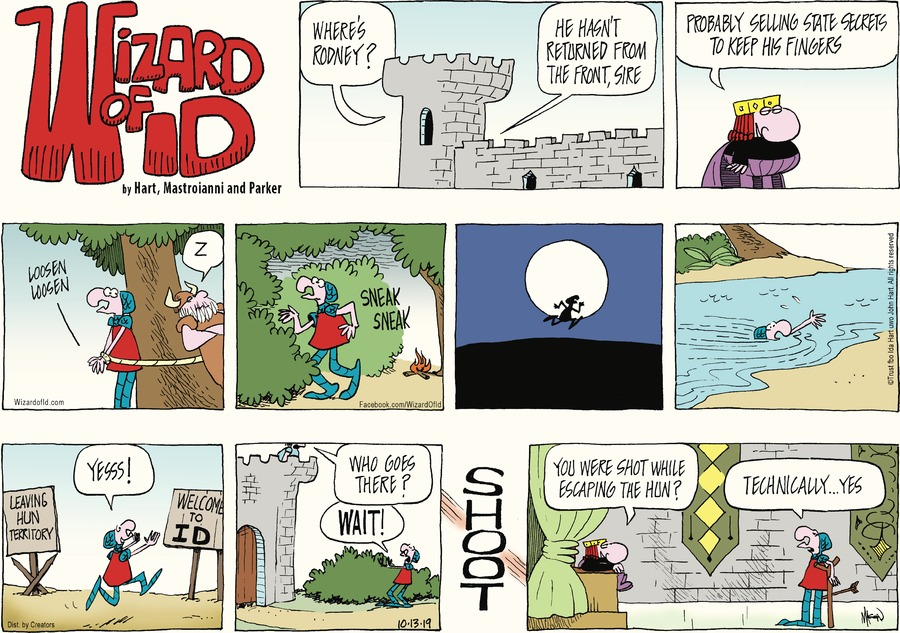 Wizard of Id Comic Strip for October 13, 2019
