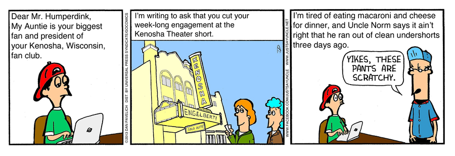 Just Say Uncle for Apr 5, 2013 Comic Strip