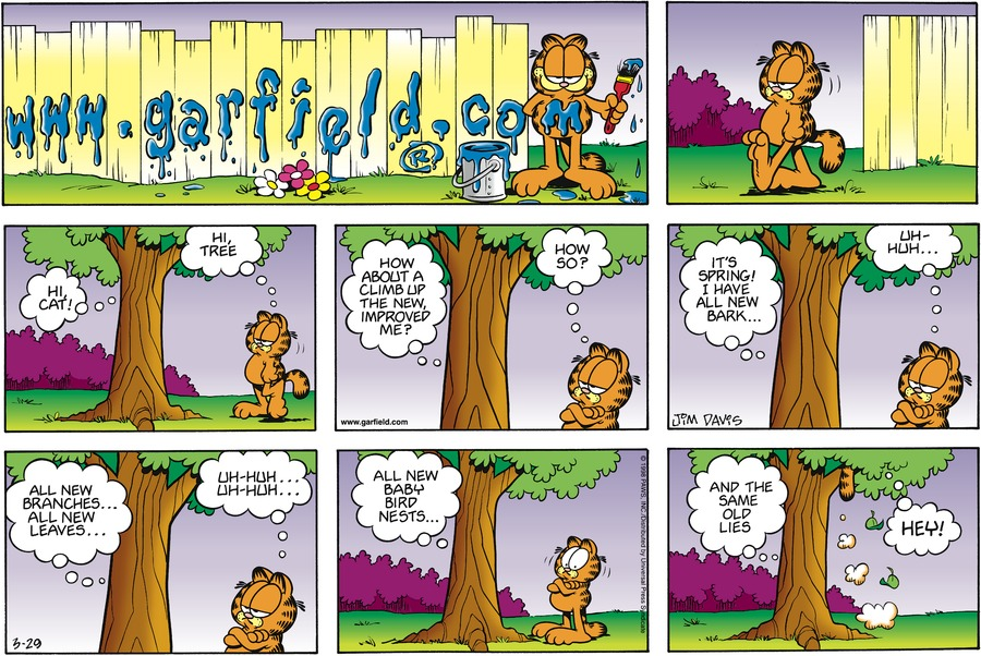 Garfield Comic Strip for March 29, 1998