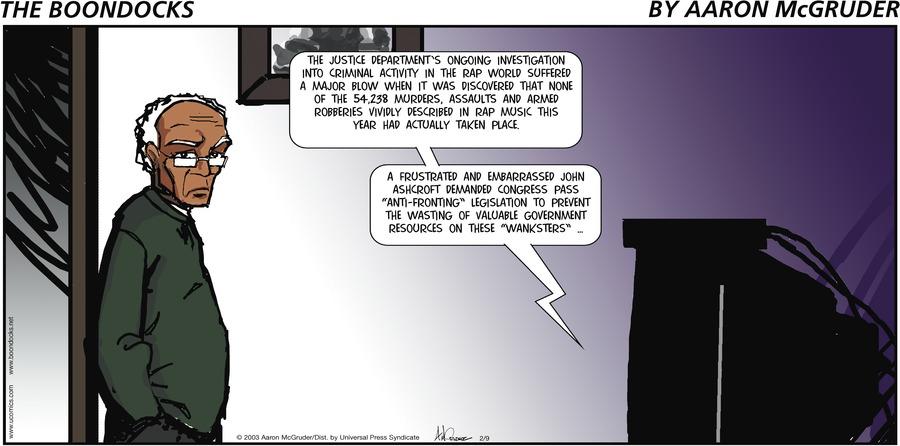 The Boondocks Comic Strip for April 22, 2018