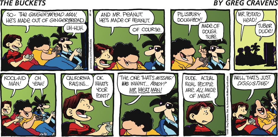 The Buckets Comic Strip for July 11, 2021