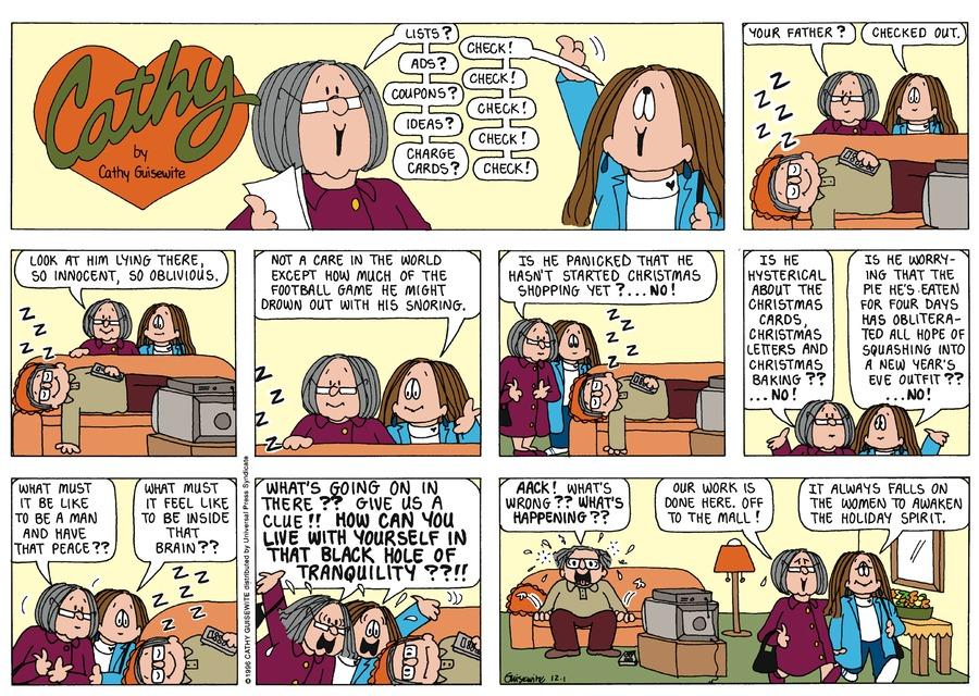 Cathy for Dec 1, 1996 Comic Strip