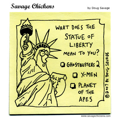 Savage Chickens Comic Strip for July 04, 2012