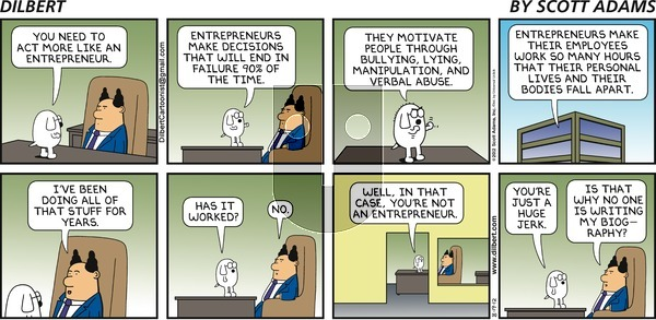 Dilbert on Sunday August 19, 2012 Comic Strip