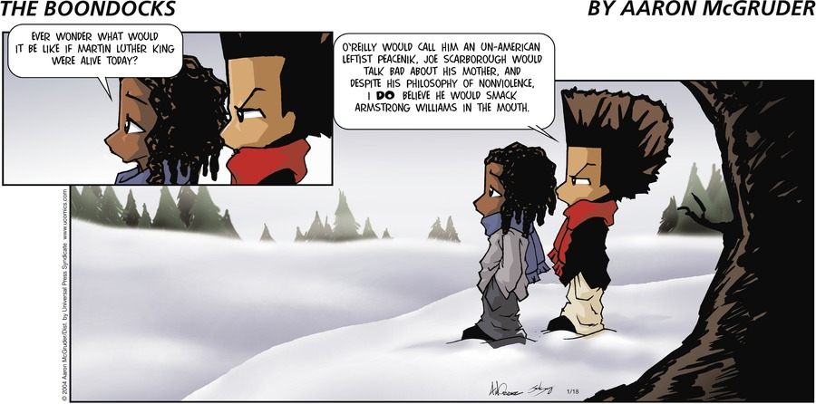 The Boondocks Comic Strip for January 18, 2004