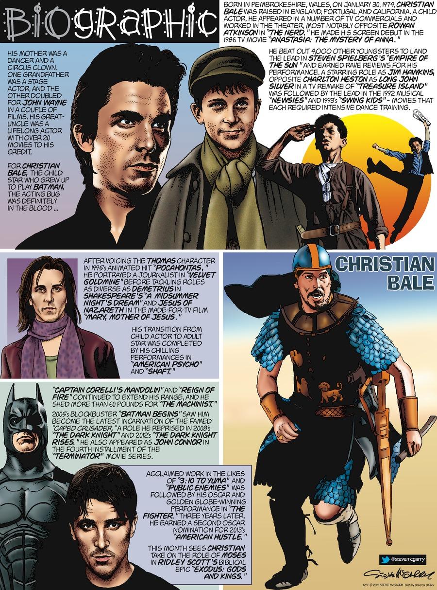 Biographic Comic Strip for December 07, 2014