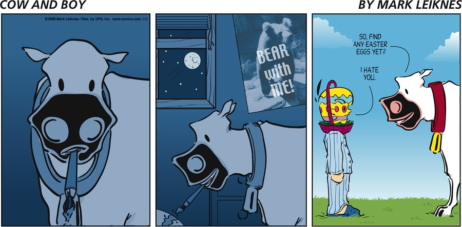 Cow and Boy Classics Comic Strip for March 23, 2008