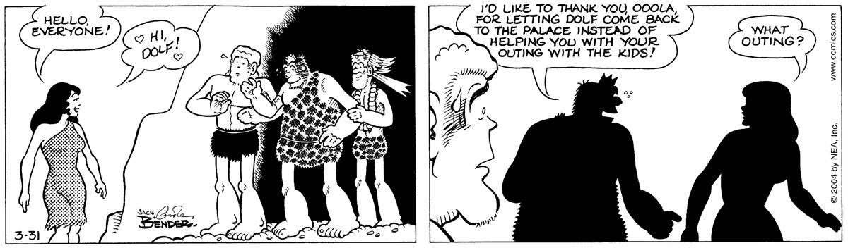 Alley Oop for Mar 31, 2004 Comic Strip
