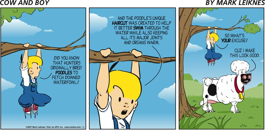 Cow and Boy Classics for Aug 3, 2014 Comic Strip