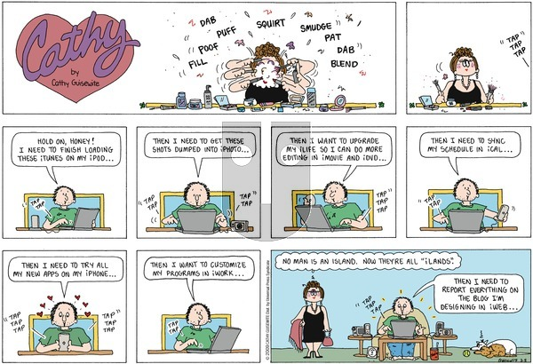 Cathy on Sunday March 8, 2009 Comic Strip
