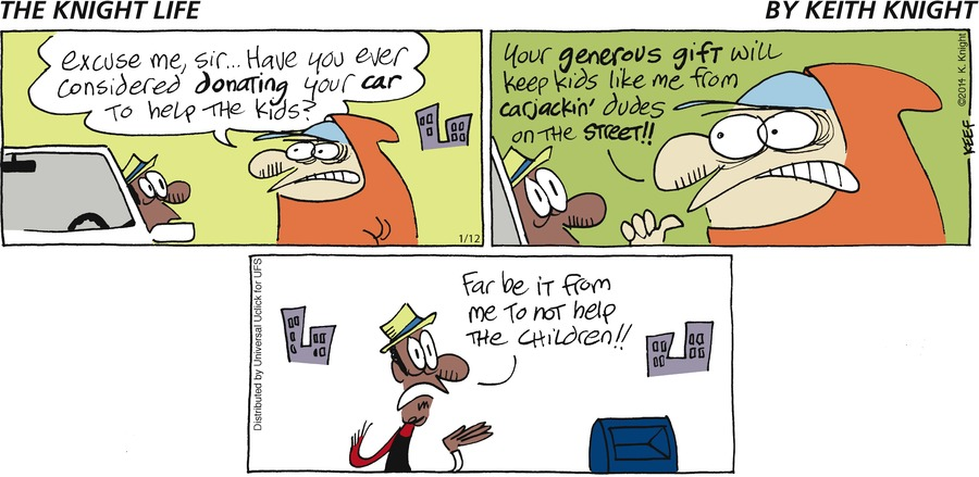 The Knight Life Comic Strip for January 12, 2014