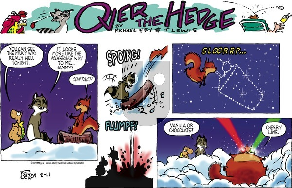 Over the Hedge on Sunday February 11, 2018 Comic Strip