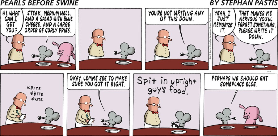 Pearls Before Swine Comic Strip for February 10, 2019