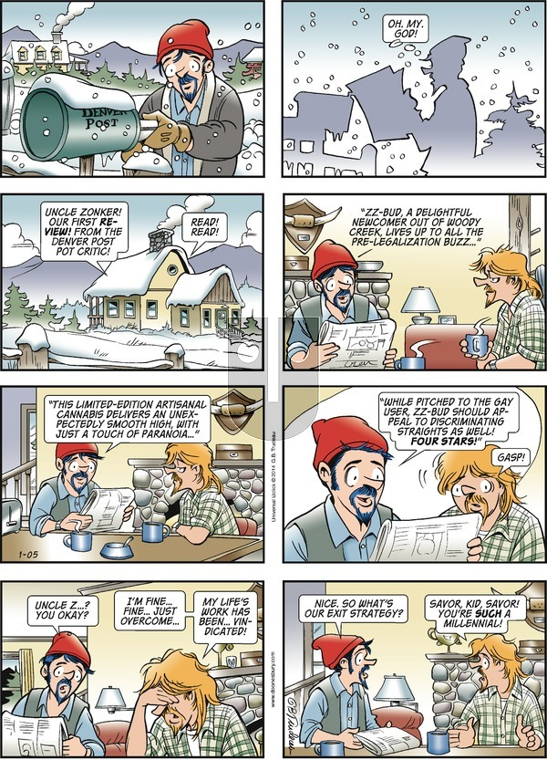 Doonesbury - Sunday January 5, 2014 Comic Strip