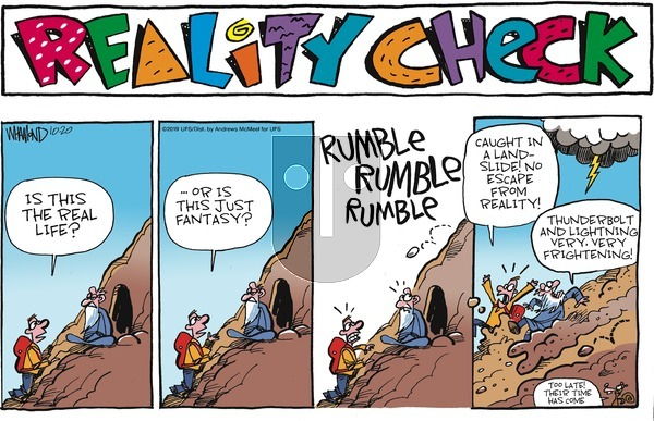 Reality Check - Sunday October 20, 2019 Comic Strip