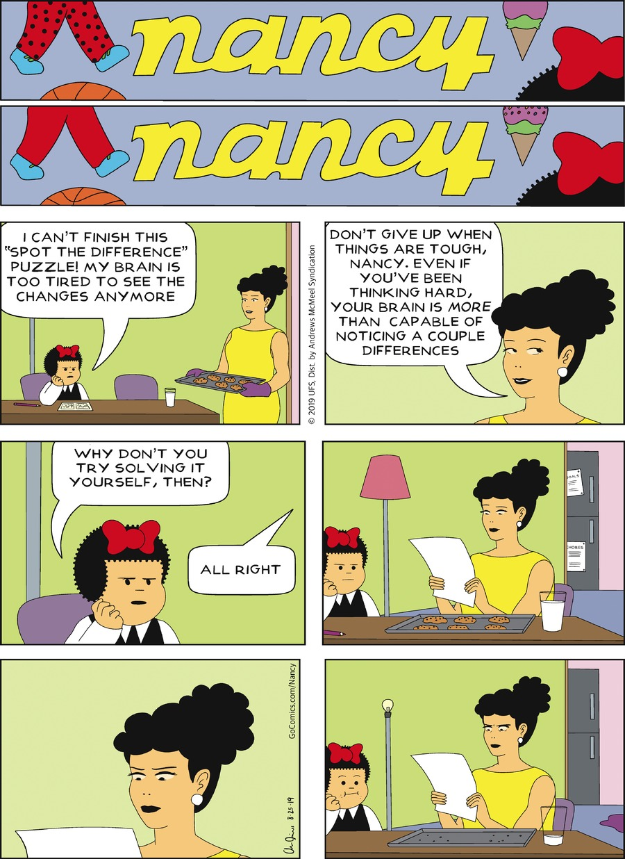 Nancy Comic Strip for August 25, 2019