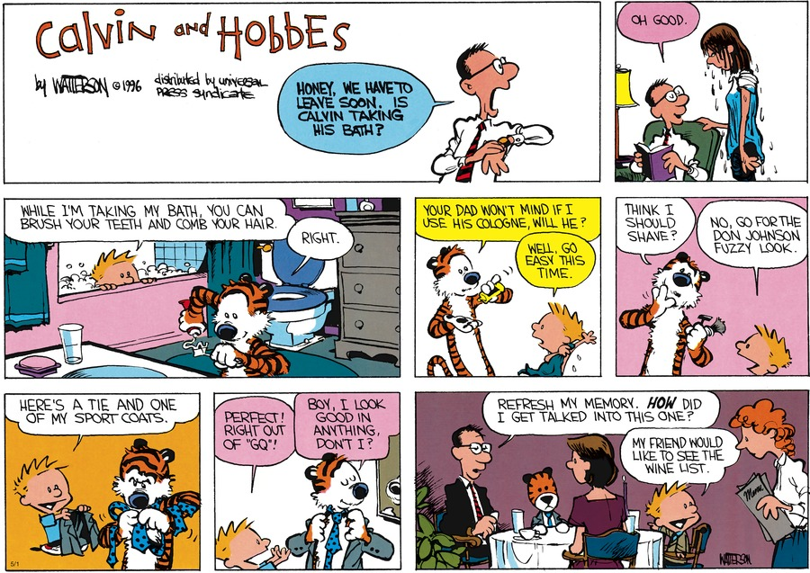 Calvin and Hobbes Comic Strip for May 01, 2016
