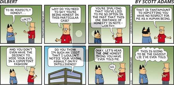 Dilbert on Sunday February 1, 2015 Comic Strip