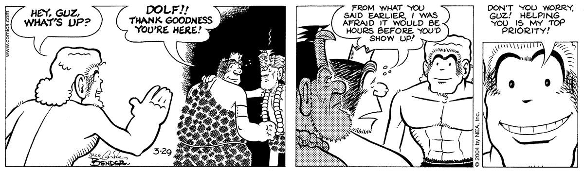 Alley Oop for Mar 29, 2004 Comic Strip