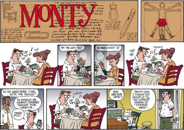 Monty on Sunday September 13, 2015 Comic Strip