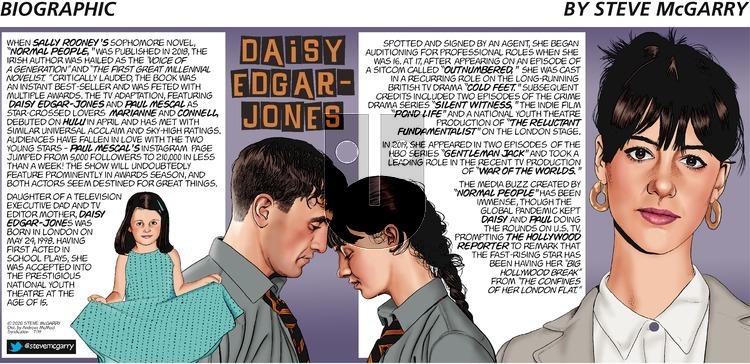 Biographic - Sunday July 19, 2020 Comic Strip