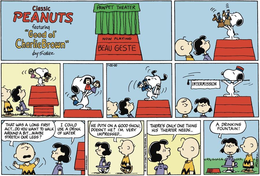 Peanuts Comic Strip for July 02, 2000