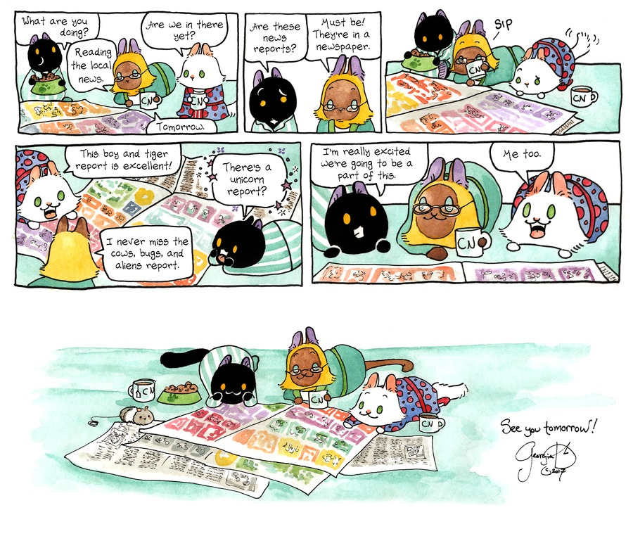 Breaking Cat News for Mar 26, 2017 Comic Strip