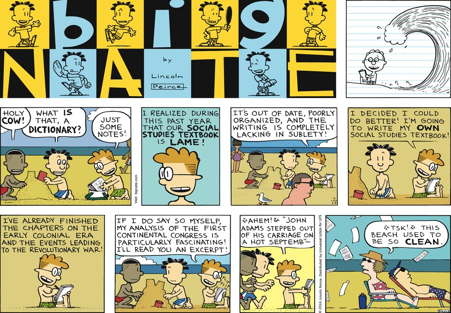 Big Nate Comic Strip for July 17, 2016