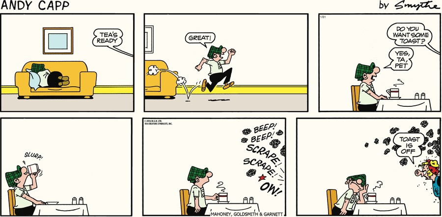 Andy Capp Comic Strip for January 31, 2016