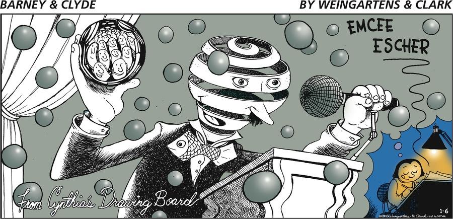Barney & Clyde for Jan 6, 2013 Comic Strip