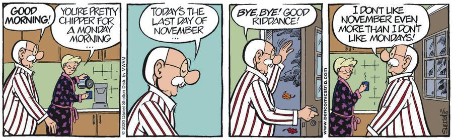 Ben Comic Strip for November 30, 2020