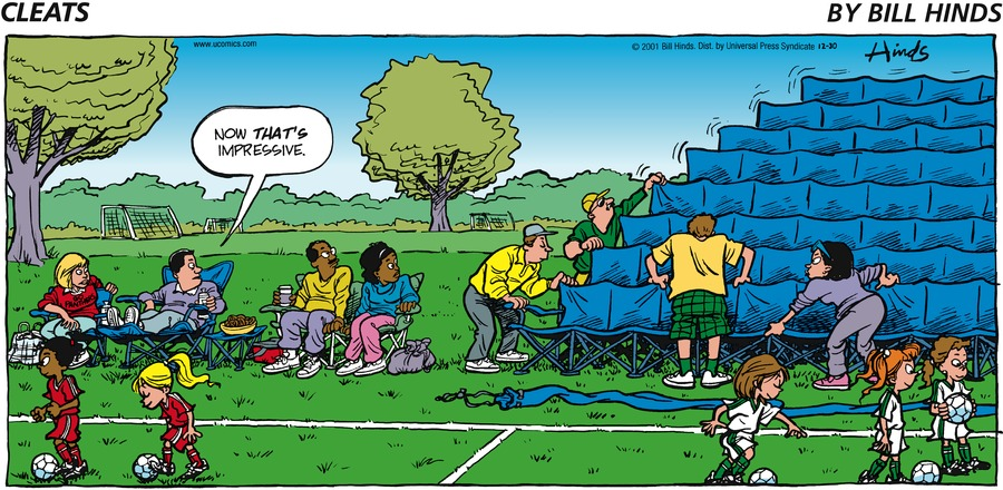Cleats Comic Strip for December 30, 2001