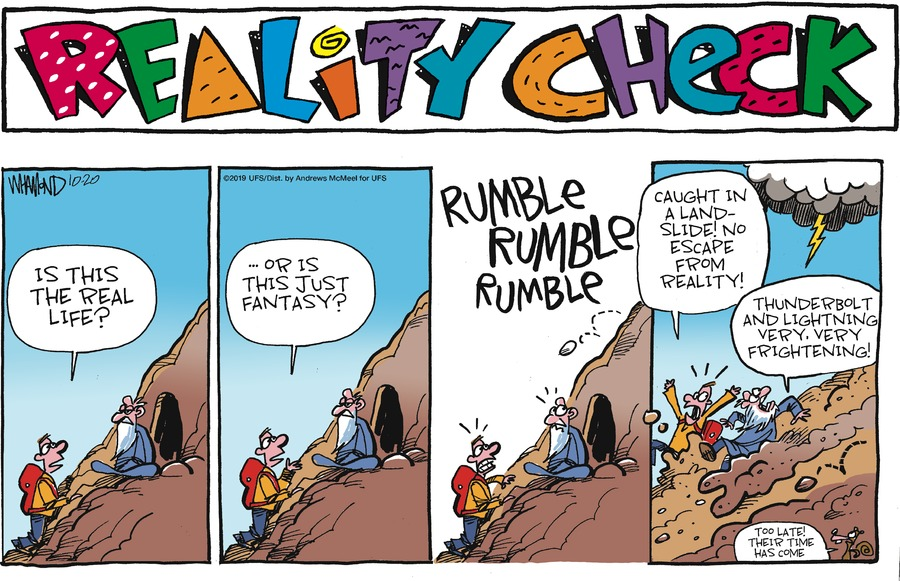 Reality Check Comic Strip for October 20, 2019