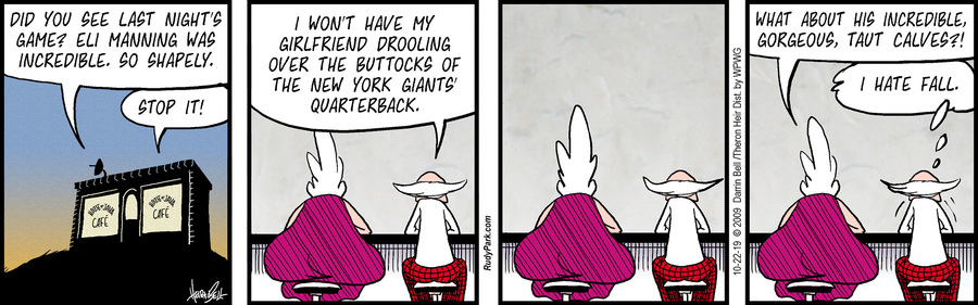 Rudy Park Comic Strip for October 22, 2019