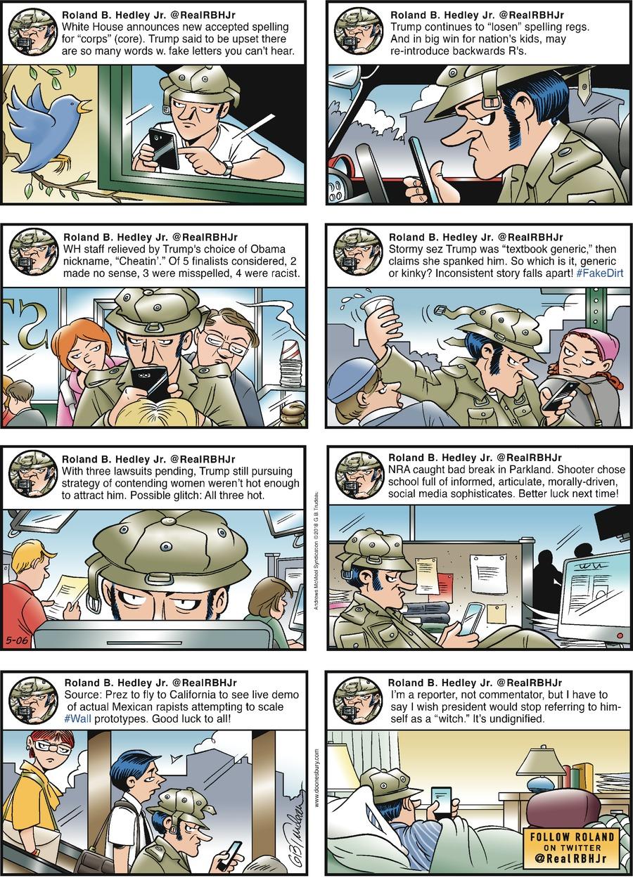 Doonesbury for May 6, 2018 Comic Strip