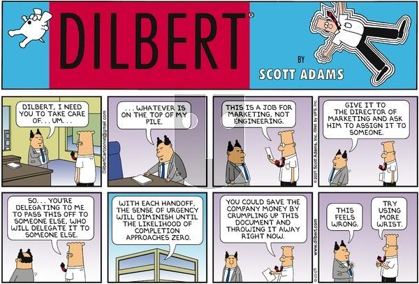 Dilbert - Sunday October 25, 2009 Comic Strip