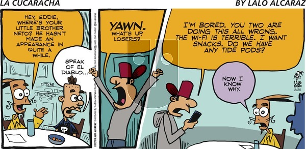 La Cucaracha on Sunday February 25, 2018 Comic Strip